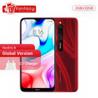 Version mondiale Xiaomi Redmi 8 3GB 32GB Snapdragon 439 Octa Core téléphone portable 12MP double caméra 5000mAh grande batterie téléphone portable