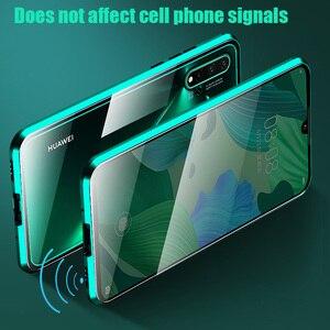 Image 5 - 360 מגנטי מתכת זוגי צד זכוכית טלפון מקרה עבור Huawei Honor 20 20 פרו 9X 9X פרו 10 לייט Y9 ראש 2019 P חכם Z P30 כיסוי