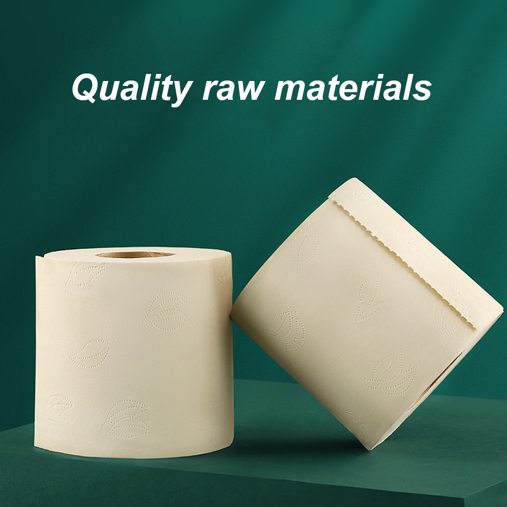 5Roll Jumbo Roll Toilet Paper 4-Layer Native Wood Soft Toilet Paper Pulp Home Bath Rolling Paper Strong Water Absorption Tissue