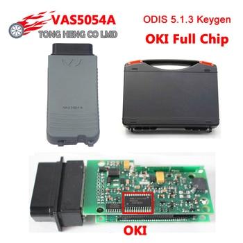 DHL darmowa systemu alarmowego pojazdu 5054A Bluetooth VAS5054A z firmą OKI pełny Chip ODIS V5.1.6 UDS vas5054 VAS 5054 z plastikowym pudełku