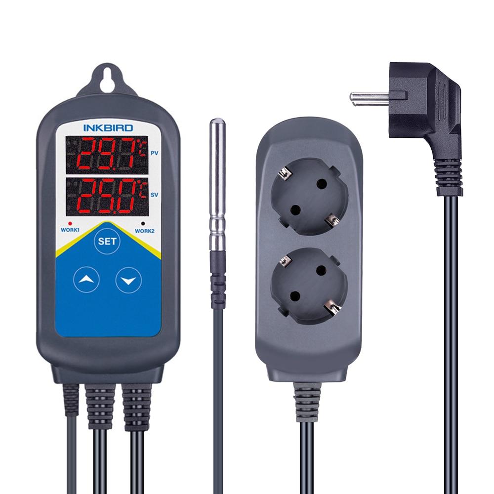 ITC-306T Controlador de temperatura del termostato de calentamiento electrónico precableado y controlador de temporizador digital sin control de enfriamiento