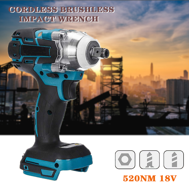 Battery Rechargeable Impact 2 Makita Socket Power 1 Brushless For Electric Tool Electric Wrench 1 Drill Wrench 18V Cordless 4inch