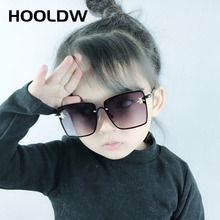 HOOLDW 2020 Fashion Kids Sunglasses Oversize Square Children Sun Glasses Boys Girys Outdoors Travel Glasses UV400 Oculos De Sol cheap Girls Goggle Plastic MIRROR 40mm Polycarbonate HO-2251 Eyewear 46mm Usually in 48 hours 3-12 years old Outdoors Sport Bike Travel Birthday Gift