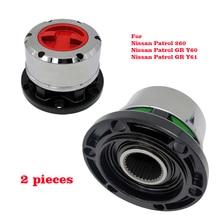 2 pieces B021HP AVM445HP Free Wheel Locking Hubs for NISSAN Patrol 260 GR Y60 GR Y61 TATA Sumo All, for FORD Maverick