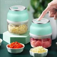 Usb elétrico mini alimentos alho vegetal chopper moedor triturador de imprensa para porca carne frutas cebola processador misturador de alimentos moedor de carne