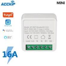 Mini wi fi interruptor inteligente temporizador sem fio interruptores de automação residencial inteligente compatível com tuya alexa google casa interruptor