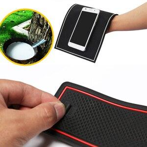 Image 5 - Anti Slip Coppa di Gomma Porta Cuscino Groove Zerbino per Mazda 3 BK MPS 2003 ~ 2009 2004 2006 2008 accessori Adesivi Per Auto Zerbino per il telefono