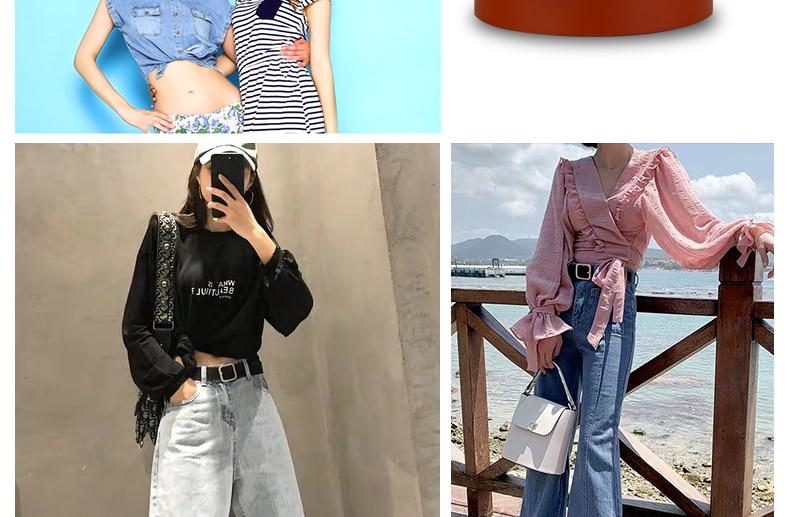 NO. ONEPAUL ремень женский японский пряжка украшение элегантный простой дикий студенческий ретро джинсы дизайн женский ремень