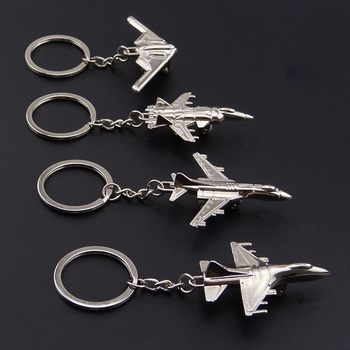 Popular Civil Aviation Aircraft Key Chain Hainan Aircraft Model Creative Metal Fighter Personality Pendant Aircraft Model Gifts image