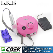 LKE 35000RPM Pro Electric Nail Drill Machine Apparatus for Manicure Pedicure with Cutter Nail Drill Art Machine Kit Nail tools