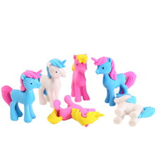 1pcs/pack Cartoon Pony Rubber Animal Shape Student Learning Stationery For Kids Gifts Erasers