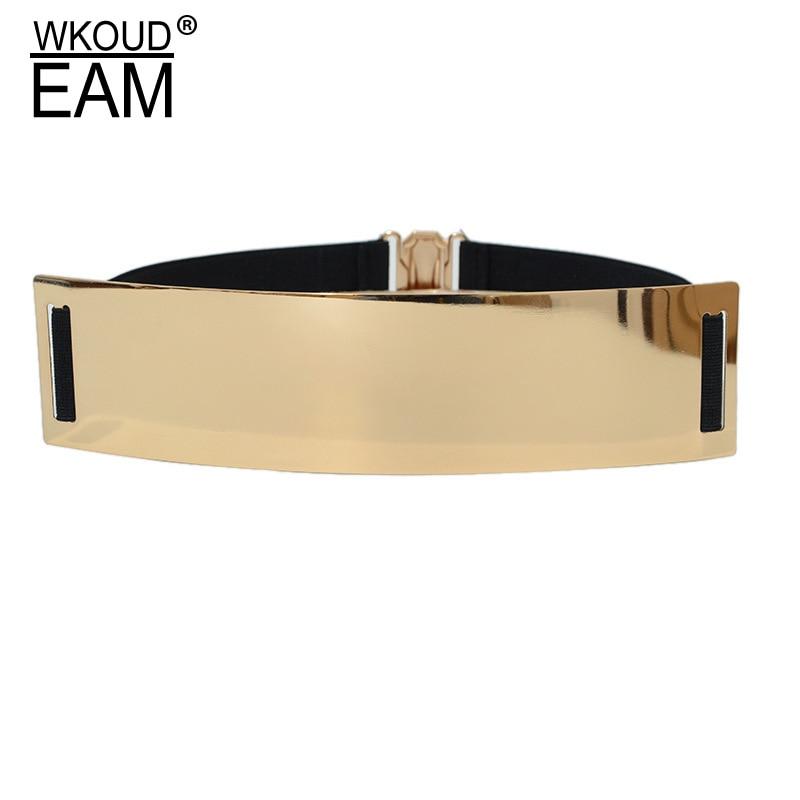 2020 New Design High Fashion Metal Wide Belts For Women Solid Stylish Corset Belt Hot Sale Elastic Waistband Female Trendy ZL089