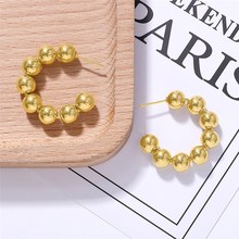 Stainless Steel Circle Earrings Gold Plating Small Round Hoop For Women Fashion Jewelry