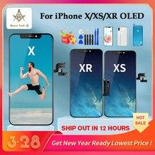 Di alta Qualità OLED Per il iPhone X XS XR Display OLED Per il iPhone X Screen Display di Ricambio con la Vera Tono di Trasporto trasporto libero