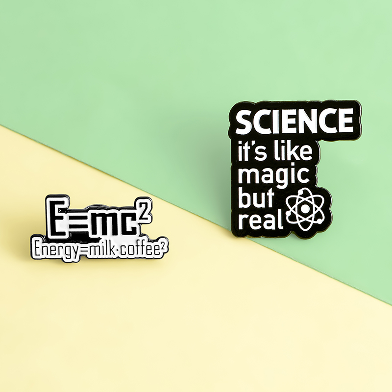 Science is Magic but real Enamel Pin Custom Brooches Fun Energy Quote Badge for Bag Lapel Pin Buckle Jewelry Gift for Friends 6