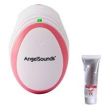 Com gel angelsounds portátil bolso fetal doppler bebê batimento cardíaco grávida doppler pré-natal monitor 3mhz cuidados de saúde do agregado familiar