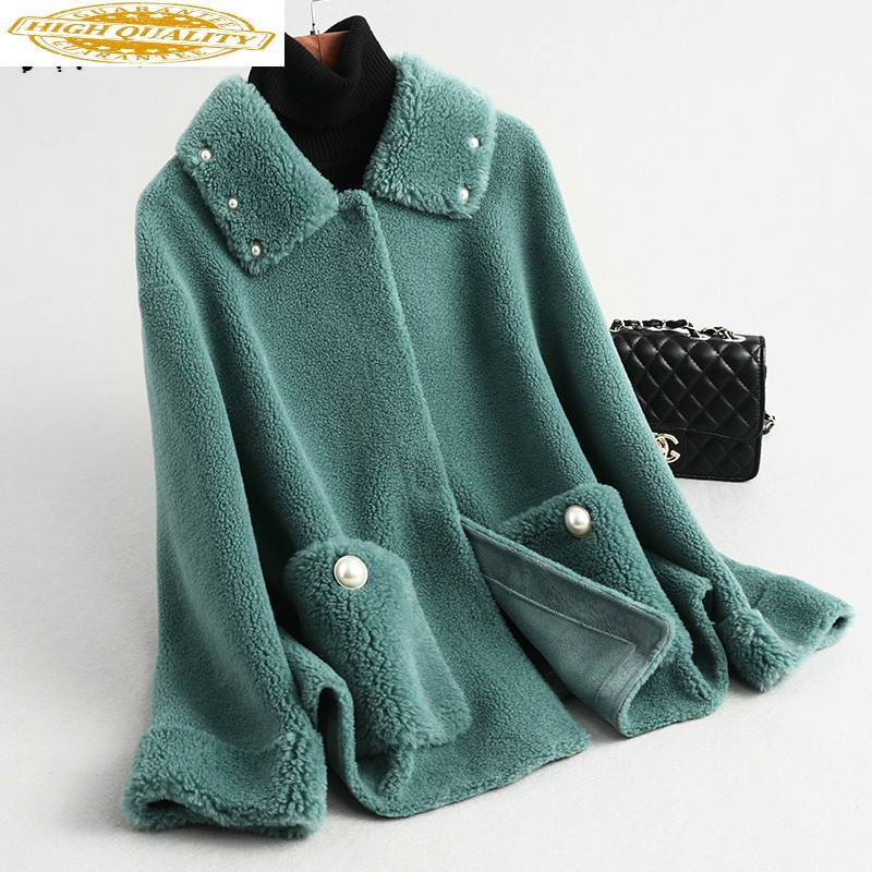 Real Fur Coat Women Wool Jacket Women Clothes 2019 Sheep Shearling Winter Coat Women Korean Manteau Femme KQN59349 YY1588