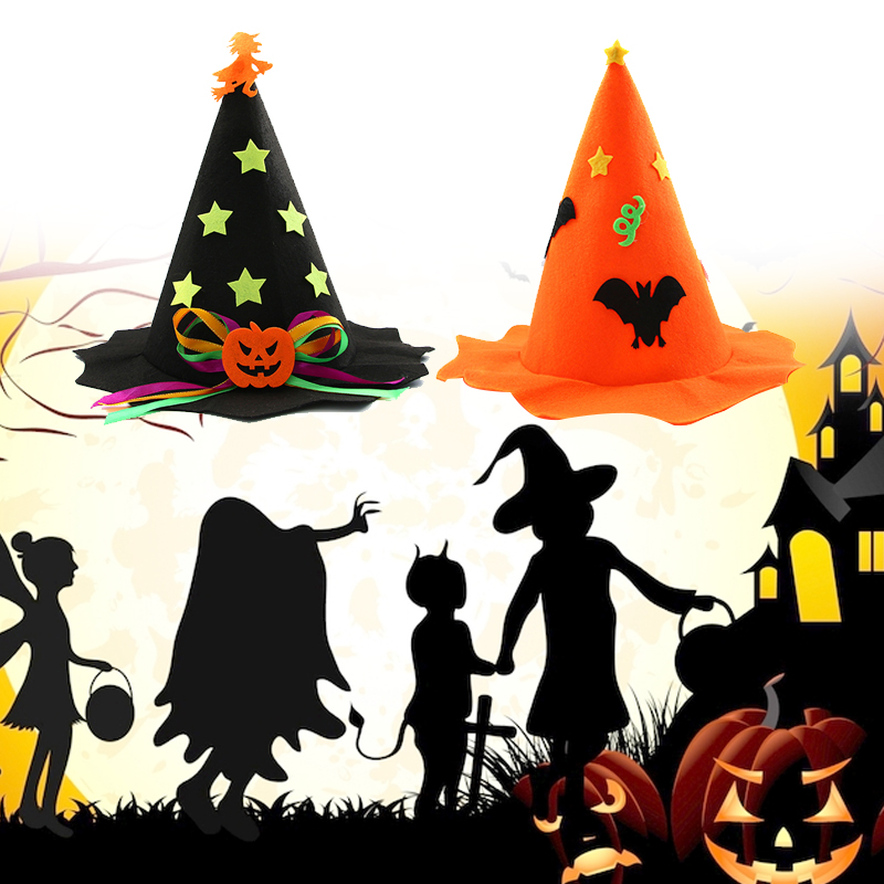 Hats Witch Hat Halloween Decor Party Nonwoven Fabric Cute Wizard Hat Bar Kids Party Hats Aliexpress