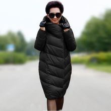 Women's cocoon down jacket winter long thickening large size 10XL fashion high-quality brand down coat black red navy blue