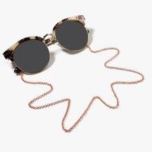 Модные металлические очки цепь на веревке сплошной цвет шнурок