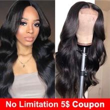 リディ人毛ウィッグ 4 × 4 のレースの閉鎖かつら黒人女性のためのボディ波かつら非ロットレミー天然色 150% 密度かつら