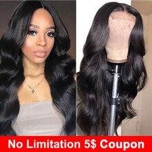 Liddy خصلات الشعر المستعار الإنسان 4x4 الدانتيل إغلاق شعر مستعار للنساء السود الجسم موجة الباروكات غير ريمي اللون الطبيعي 150% الكثافة الباروكات