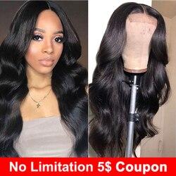 Liddy Menschliches Haar Perücken 4x4 Spitze Schließung Perücke Für Schwarze Frauen Körper Welle Perücken Nicht-remy Natürliche farbe 150% Dichte Perücken