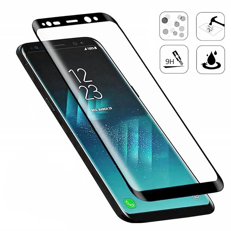 Изогнутое защитное стекло 20D для Samsung S9 S8 Plus, Защита экрана для Samsung S20 Ultra S20 Plus S10e S10 Plus HD, переднее стекло Защитные стёкла и плёнки для телефонов      АлиЭкспресс