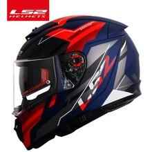 Orijinal LS2 kesici moto rcycle kask casque moto LS2 FF390 tam yüz çift lens modüler kaskları kasko ile sis ücretsiz sistem
