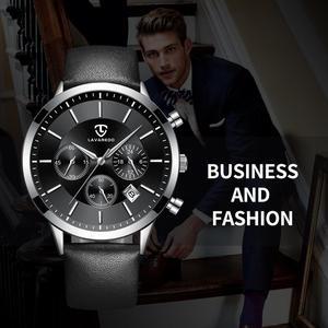 Image 3 - LAVAREDO Top Merk Luxe Heren Horloges Mannelijke Klokken Datum Klok Lederen Band Quartz Business Mannen Horloge Gift A7