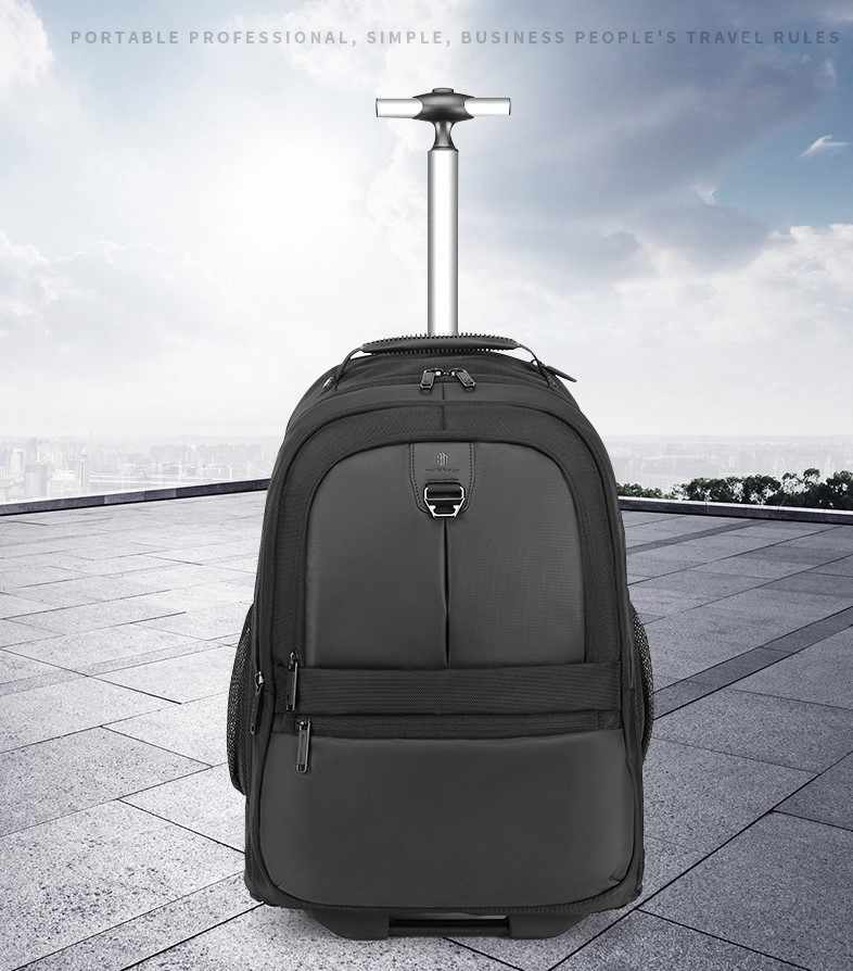 ARCTIC HUNTER Trolley Backpack with Wheels ,45L Carry on Hand Luggage Travel Backpack Laptop Backpack for Men and Women