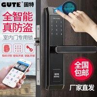 Thuis vingerafdruk slot wachtwoord indoor deurslot Amerikaanse smart black office slaapkamer kamer mute elektronisch slot-in Gereedschapsdelen van Gereedschap op