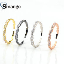 Wholesale Copper Micro Pave CZ  Charm Bangle In 4 Colors Top Quality Plating of 4PCS,B0018