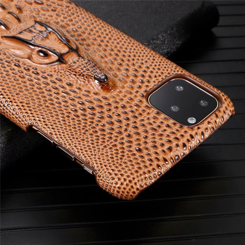 Genuine Leather Cow Hide Stereoscopic 3D Case for iPhone 11/11 Pro/11 Pro Max 23