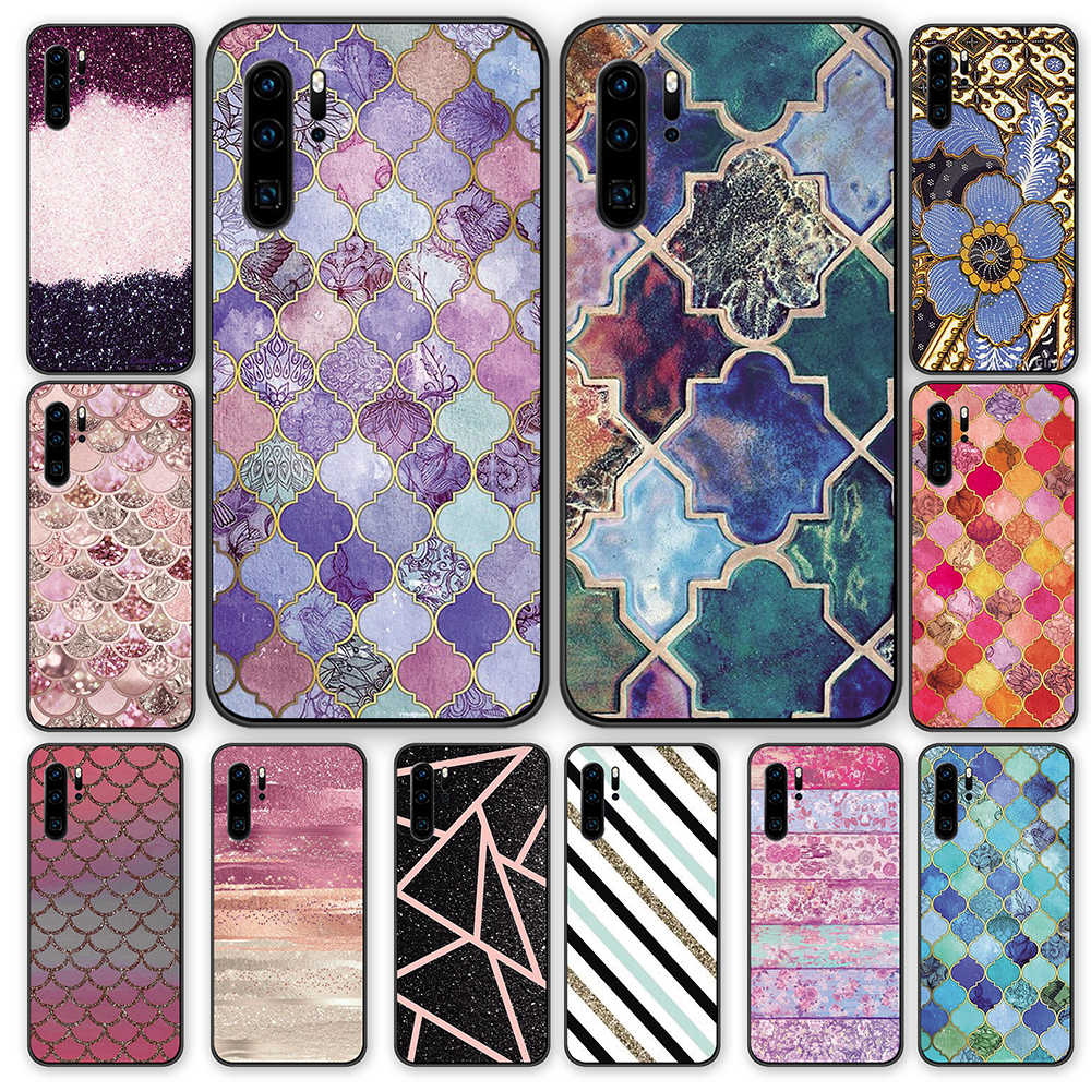 royal indigo purple Black TPU Cases Cover For Huawei P40 P30 P20 P10 Mate 10 20 30 Pro Lite