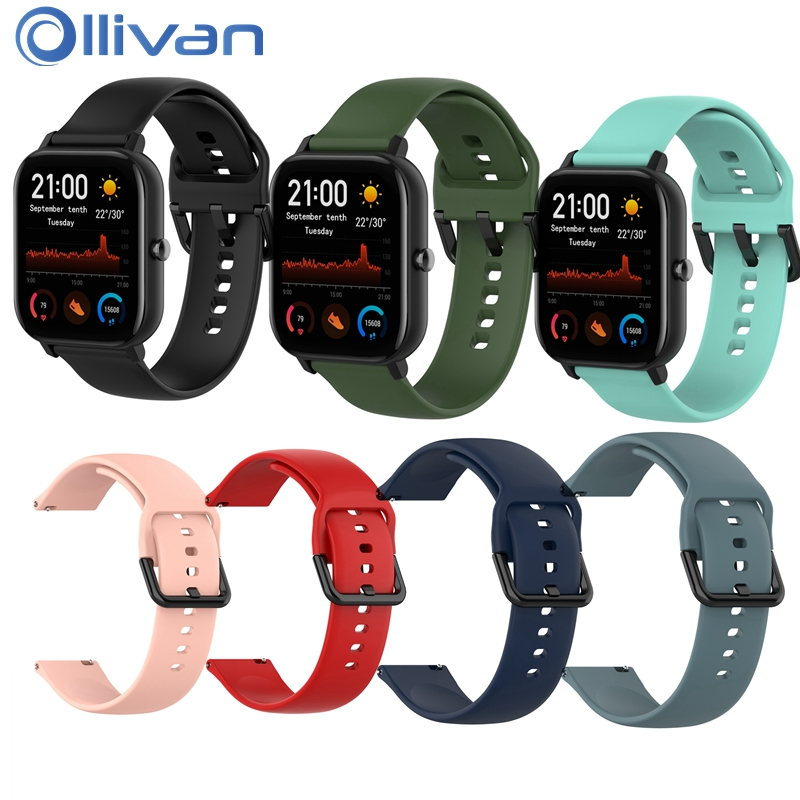 Original Silicone Strap For Amazfit GTS Smart Watch Band Men Women Sport SmartWatch Strap For Huami Amazfit GTS Global Version