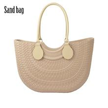 New Obag Sand Bag Style With Round Belt D buckle Handles Soft Waterproof Rubber Silicon Bag O Sand O bag Women handbag