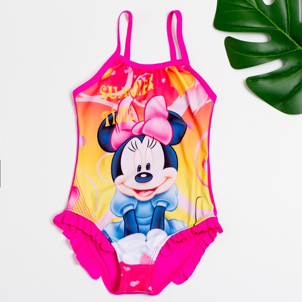 Girls One-Piece Swimsuits Minnie Girls Summer Bathing Suits New 2019 Children Girls Lovely Beachwear Kids Cute Swimwear 9025