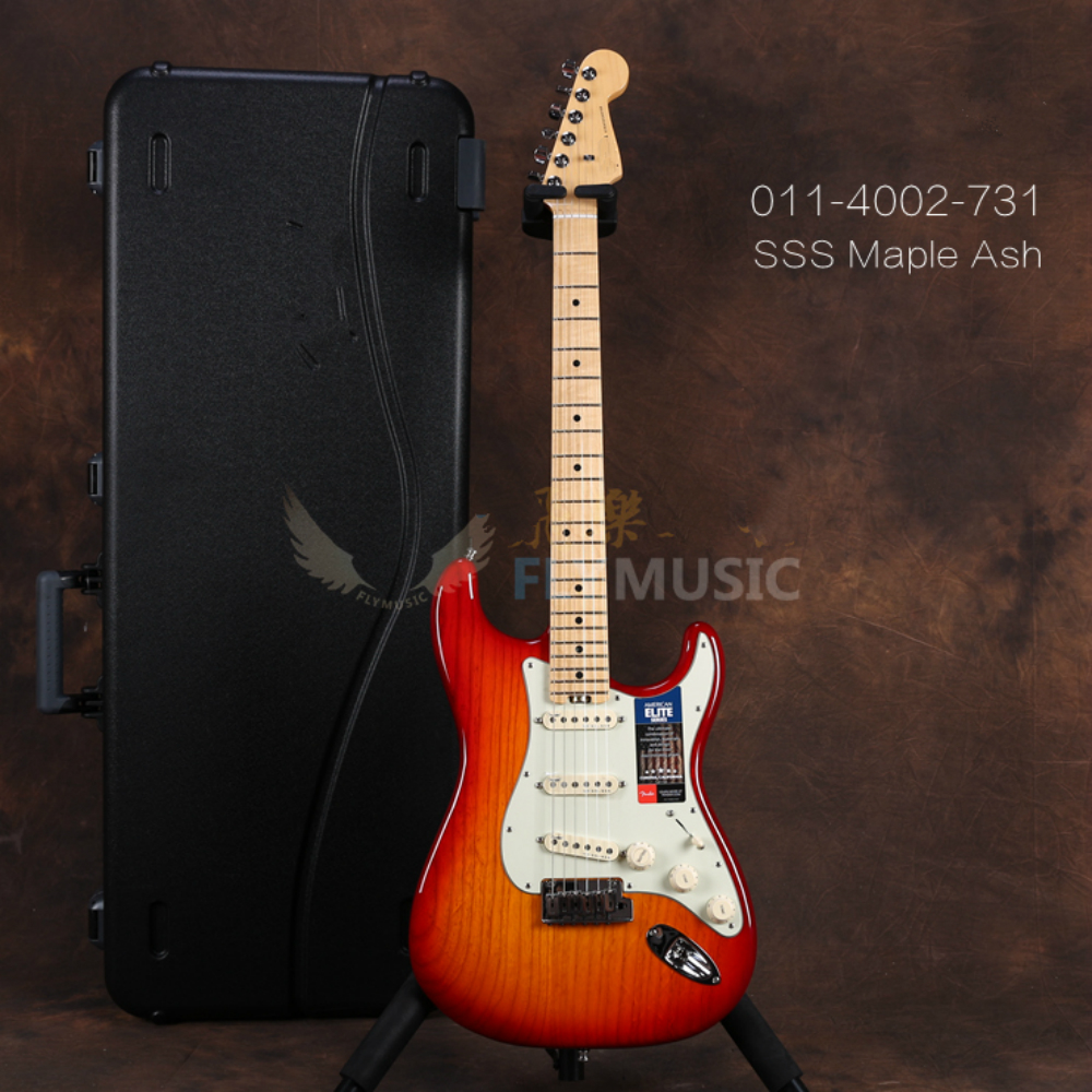 High quality FDST-1105 red burst color solid Ash body white pickguard maple frtboard Elite electric guitar, Free shipping