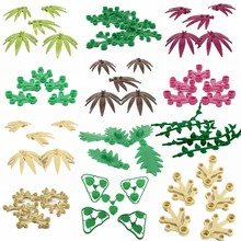 Legoing MOC City Set Building & Construction Toy Parts Carrot Leaves Bamboo Leaves Cherry Water Plant Blocks Children's DIY Toys(China)