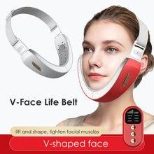 Appareil de massage Facial, correcteur de paresseux, amincissant, bleu, visage, menton, ligne en V, ceinture de levage, EMS, appareil de levage pour la peau du visage