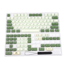 Colorant Matcha Sub ZDA PBT Keycap similaire à XDA japonais coréen russe pour clavier MX 104 87 61 mélodie 96 KBD75 ID80 GK64 68 SP84