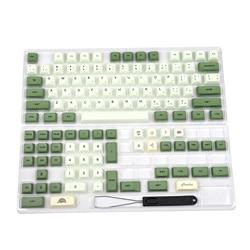 Matcha краски под Mazda PBT клавиши похожие на XDA, японский, корейский, русский Для клавиатура MX 104 87 61, которая проигрывает мелодии из 96 KBD75 ID80 GK64 68 SP84