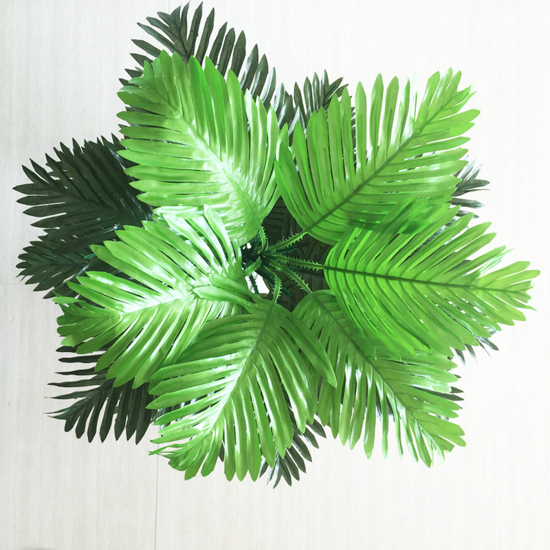 90cm 39 Leaves Tropical Tree Large Artificial Plam Plants Fake Monstera Branch Silk Palm Leafs Without Pot For Home Garden Decor-4