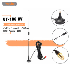 DIAMOND SMA-Female UT-106UV Car Magnetic Dual Band Antenna VHF UHF Radio UT-106 Antenna for Baofeng Ham Radio 888S UV5R UV82