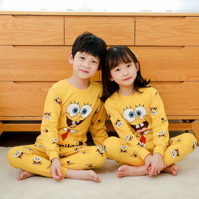 Summer New Boys Girls Pajamas Long Sleeve Children's Clothing Sleepwear Cotton Pyjamas Sets For Kids Pyjama 2-13 Years Old