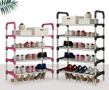 Metal Standing Shoe Rack Shoes Storage Shelf Organizer Removable Shoe Storage Cabinet Home Furniture