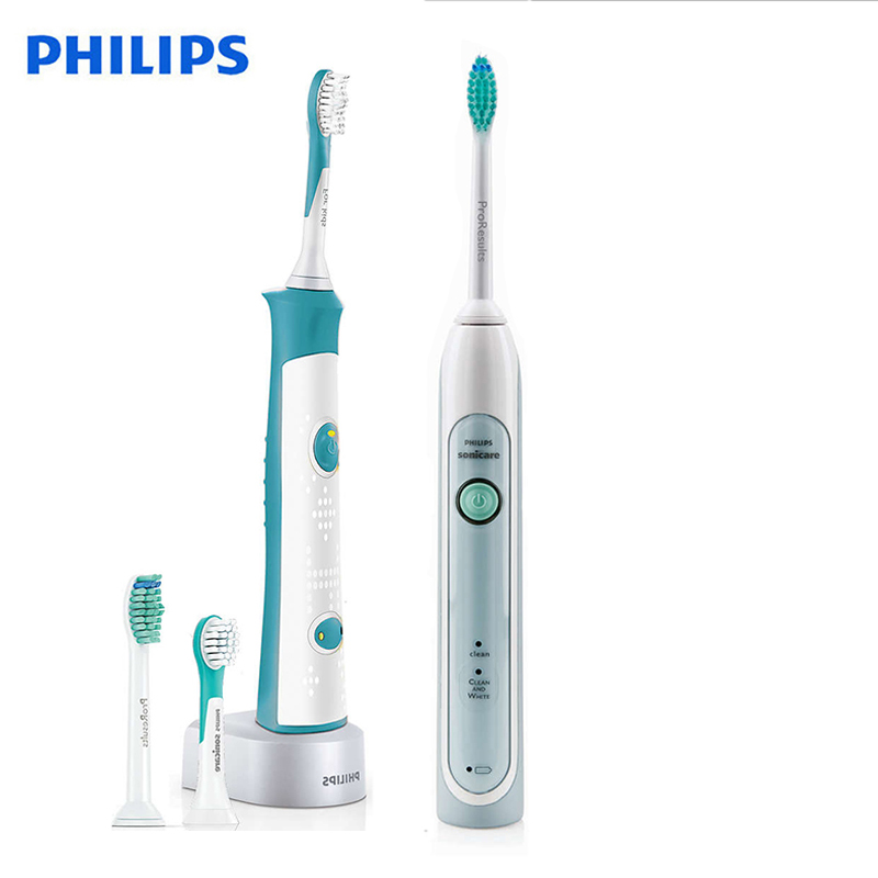 Philips Sonicare HX6314 Electric Toothbrushes Waterproof Rechargeable with Charging Base Sonic Toothbrushes for Kids and Adult image