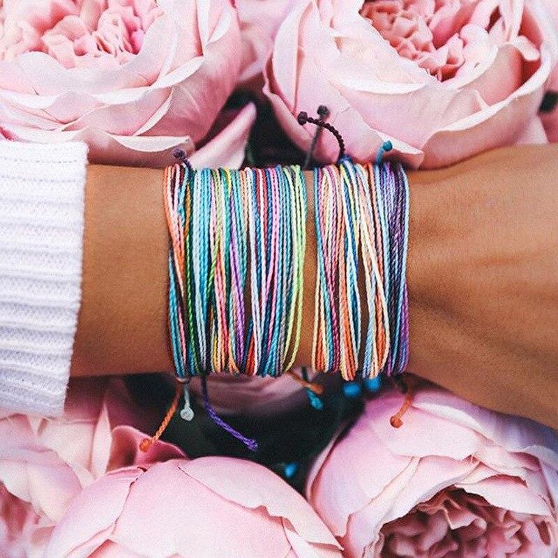 Multicolor Braided Bracelet Bundle 4