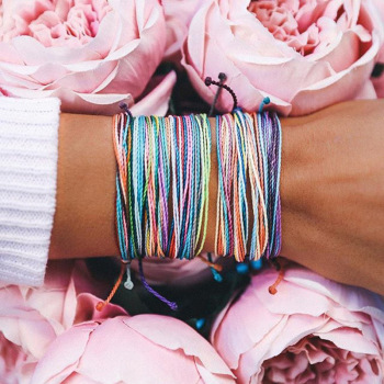 Multicolor Braided Bracelet Bundle 4